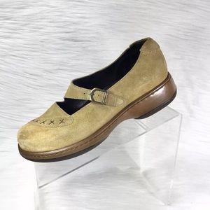 Dansko Mary Jane Shoes Beige Suede Size 39